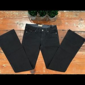 Paige Pico Low Rise Boot Cut Dark Wash Jeans - 27